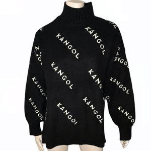 H&M Kangol Mock Neck Tunic Streetwear Sweater
